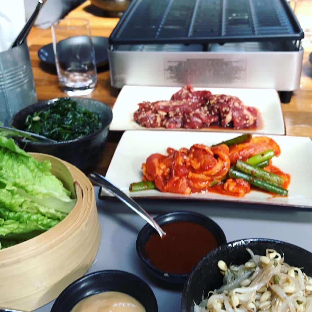 Koreansk BBQ uppdukat påNamu